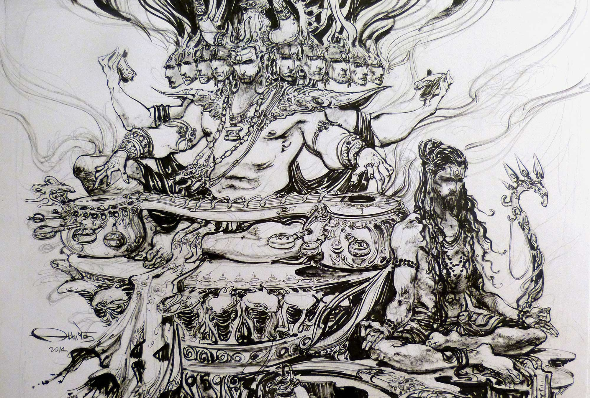 SAMADHI | ink-on-paper, 19in x 24in