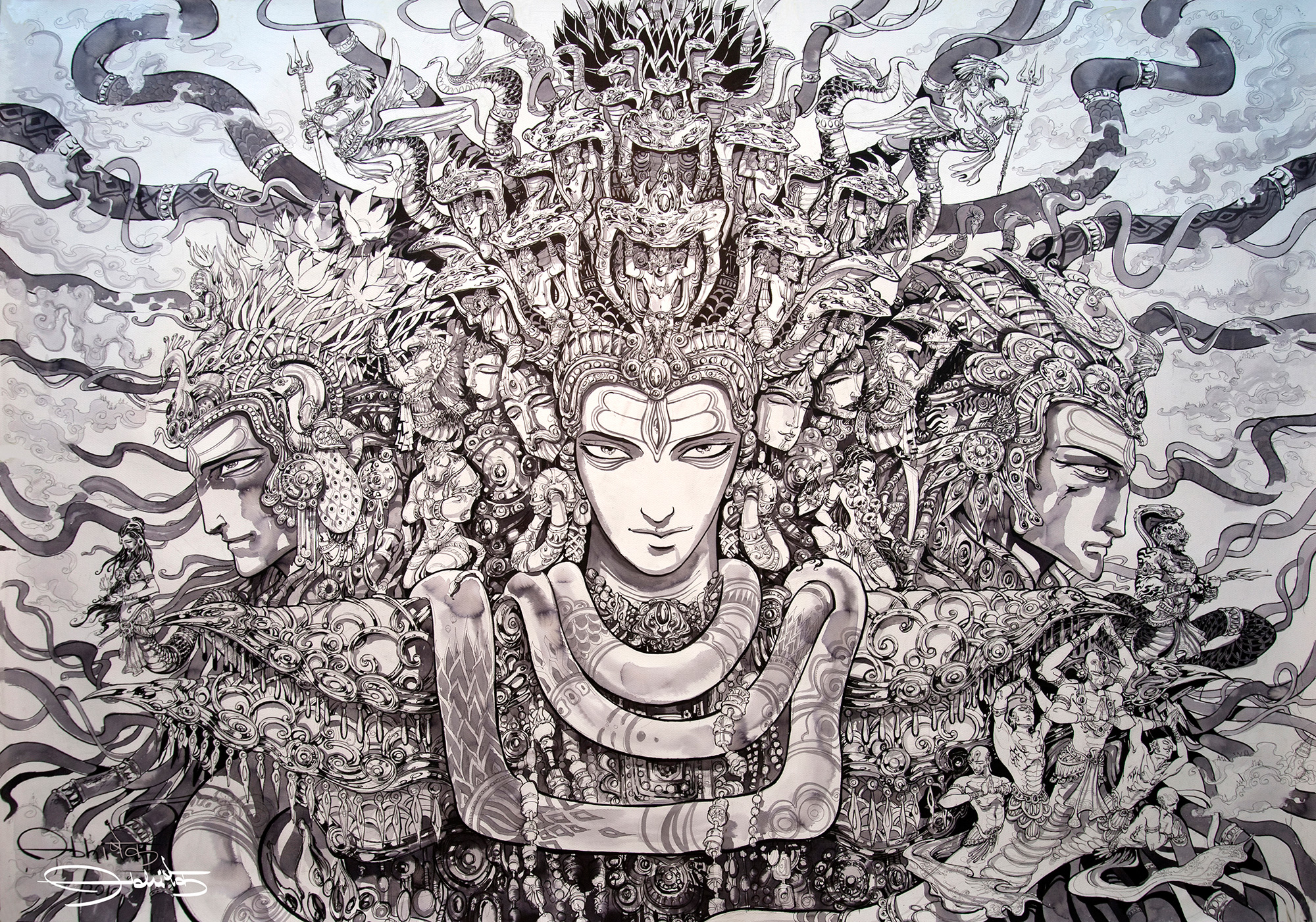 TRIMURTI | ink-on-paper, 4ft x 6ft